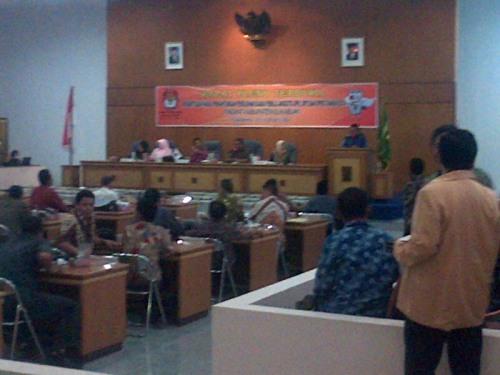 Rapat Pleno Terbuka Rekapitulasi hasil perhitungan perolehan suara pemilu anggota DPR, DPD dan DPRD tahun 2014 tingkat kabupaten Sukabumi