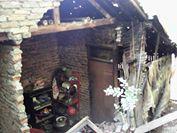 Kondisi rumah warga yang rusak parah tertiup angin ribut