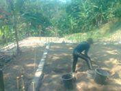 Lahan yang akan dibangun sarana masjidoleh warga kp.Batu sapi Palabuhanratu