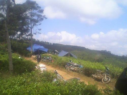 Beberapa  penambangan emas liar di Cibuluh, Cigombong, Cikadu, Cipancar dan Pasirmanggu. Akibatnya, aktivitas dari penambangan tersebut langsung ke air Sungai Ciwaru
