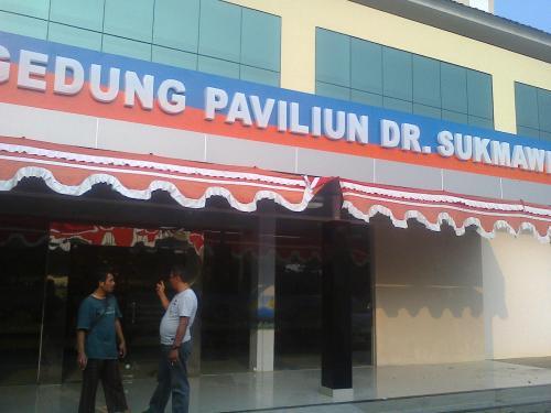 Gedung Paviliun VVIP RSUD Palabuhanratu yang baru diresmikan oleh Bupati Sukamwijaya