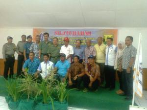 Pengcab Porlasi bersama Muspida dan para atlet Silaturahmi jelang PON 2016