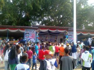 Kemeriahan Jalan Sehat HUT Polantas ke -60 Polres Sukabumi