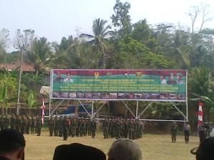 Program TNI Manunggal Membangun Desa (TMMD) ke – 95 Kodim 0622 Kabupaten Sukabumi dibuka langsung oleh Pangdam III/Siliwangi Mayjen Hadi Prasojo bertempat di lapang Cisolok Karang Hawu desa Cisolok Kecamatan Cisolok