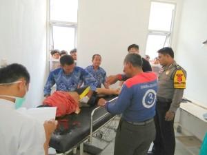 Korban ketika di visum diruang jenazah RSUD Palabuhanratu