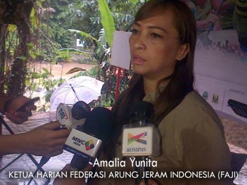 Amalia Yunita Ketua harian Federasi Arung Jeram Indonesia (FAJI)