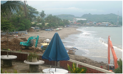 Pantai Karang Sari (Karang Pamulang) yang kini tinggal kenangan