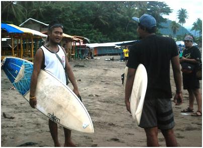 Komunitas surfing menolak pembangunan pelabuhan regional di Pantai Karang Pamulang (Karang Sari).
