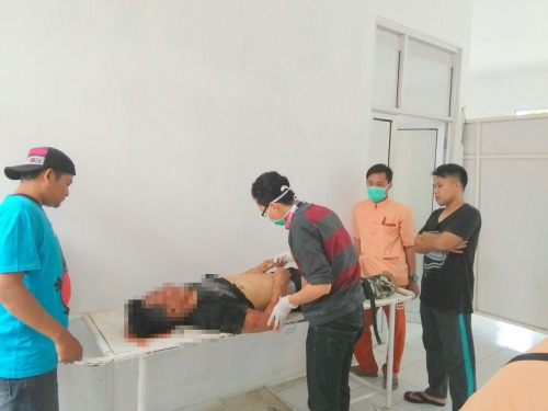 Rizani Ismu (30) warga Kp. Babadan Rt.02/03 Palabuhanratu korban meninggal ditempat (Photo : Palabuhanratu Online)