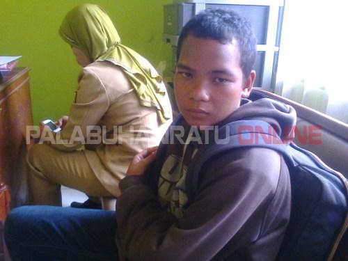 Chandra (14) warga Bogor yang lari dari rumah (Photo : Palabuhanratu Online)
