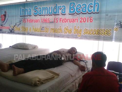 Donor darah di HUT ke- 50 Inna Samudera Beach Hotel Palabuhanratu (Palabuhanratu online)