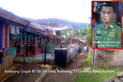 Kampung Cagak RT 06/04 Desa Buniwangi Kecamatan Palabuhanratu tempat dipulangkannya JH ke orang tuannya (Photo : Palabuhanratu Online)
