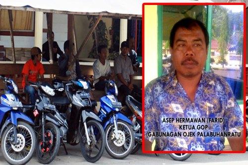 Asep Hermawan alias Farid Ketua GOP (Gabungan Ojek Palbuhanratu) Photo : Palabuhanratu Online