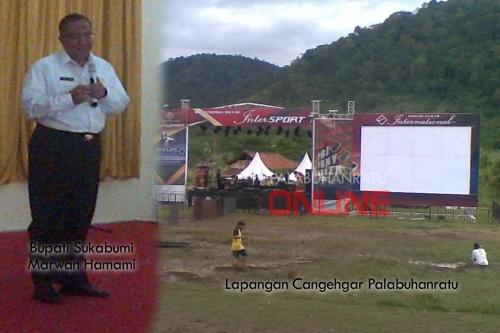 Lapangan Cangehgar Palabuhanratu akan dijadikan pusat ssenibudaya dan olah raga (Photo : Palabuhanratu Online)