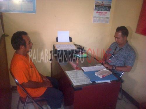 Tersangka Ahmad faisal (51) pengoblos gas elpiji bersubsidi (Photo :Palabuhanratu Online)