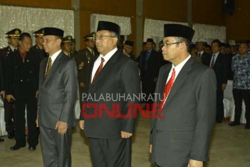 Serah terima jabatan di aula setda Kabupaten Sukabumi