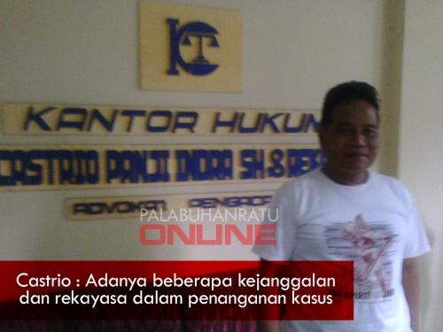 Castrio Panji Indra kuasa hukum Herlan Foto : Palabuhanratu Online)