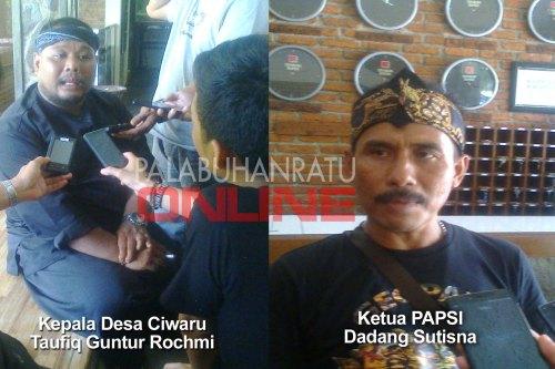 Kades Ciwaru KecamatanCiwaru kab.Sukabumi menuding dana CSR Biofarma tidak transparan Foto : Palabuharatu Online