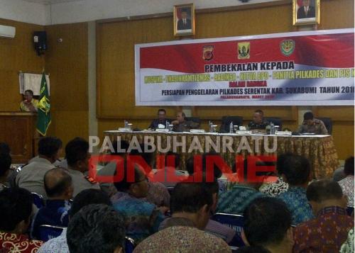 Pembekalan dalam rangka persiapan penggelaran pilkades serentak kabupaten sukabumi 2016