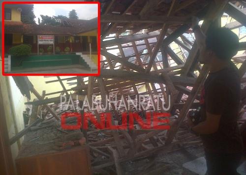Satu ruang kelas SDN Pondokkaso tengah Ruang SDN Pondokkaso tengah yang ambruk Foto : Palabuhanratu Online