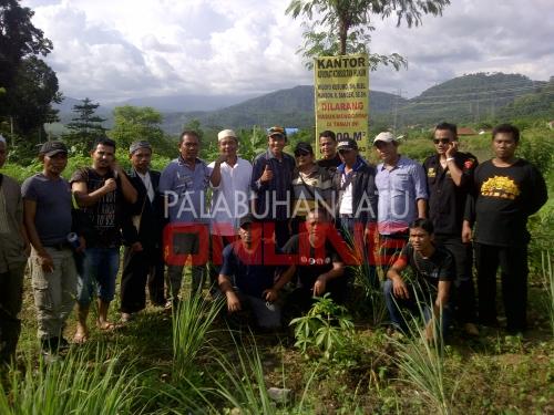 Lokasi lahan yang digugat oleh para penggarap Foto : Palabuhanratu Online