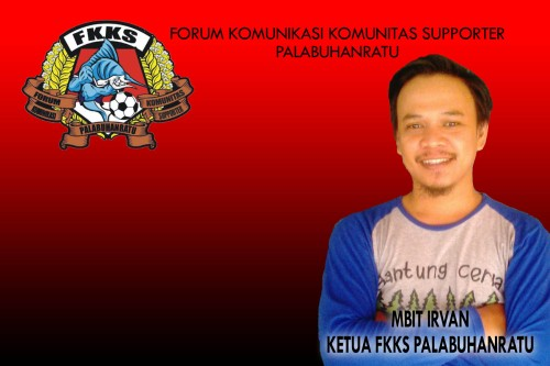 Mbit Irvan ketua forum komunikasi komunitas supporter (FKKS) Palabuhanratu. Foto : Palabuhanratu Online